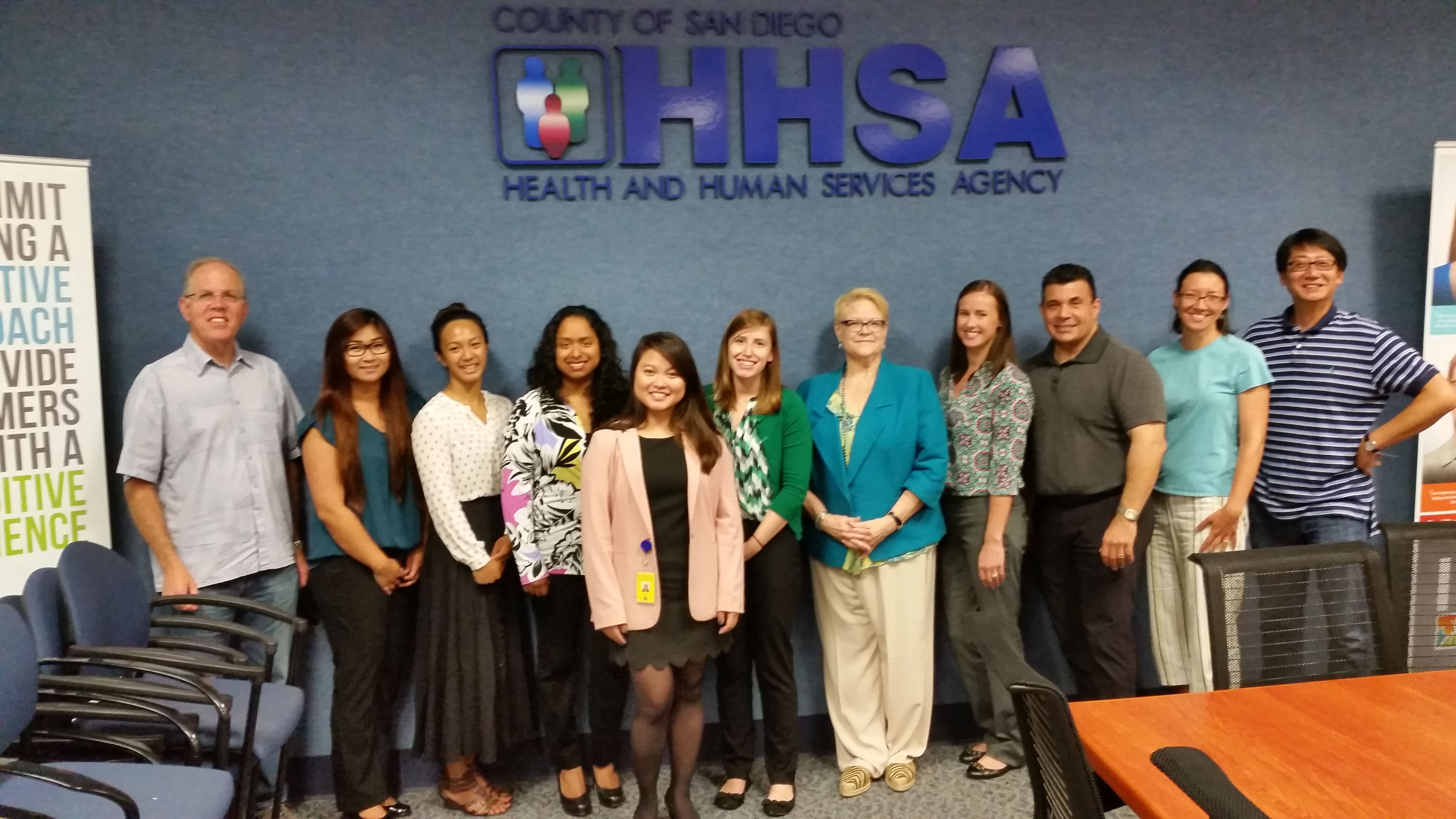 Faculty and Students at the Health and Human Services Agency