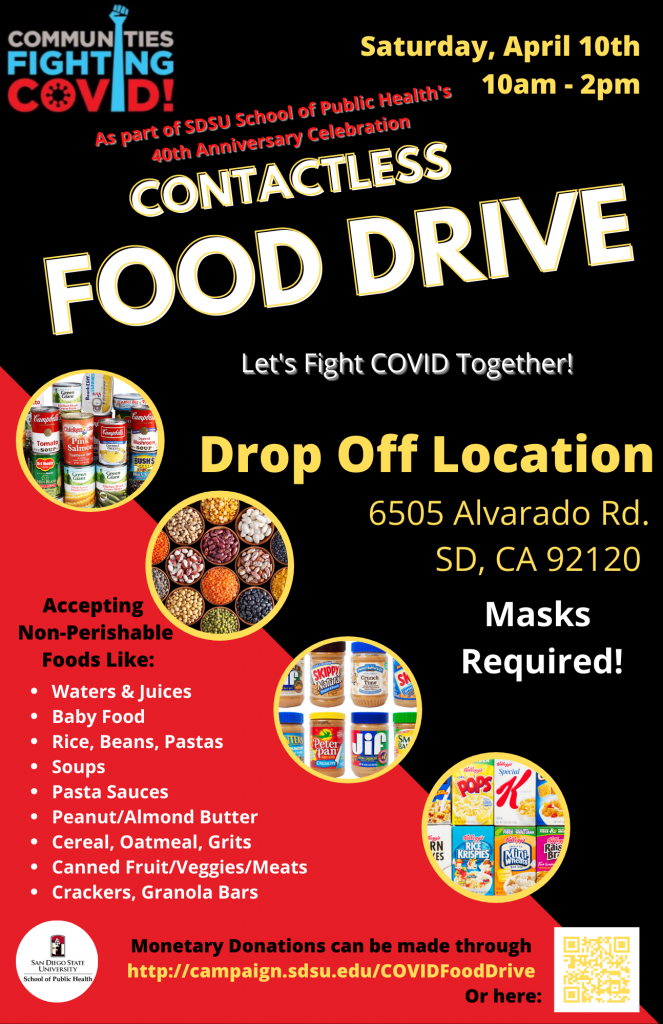 Communities Fighting Covid! Food Drive Flyer