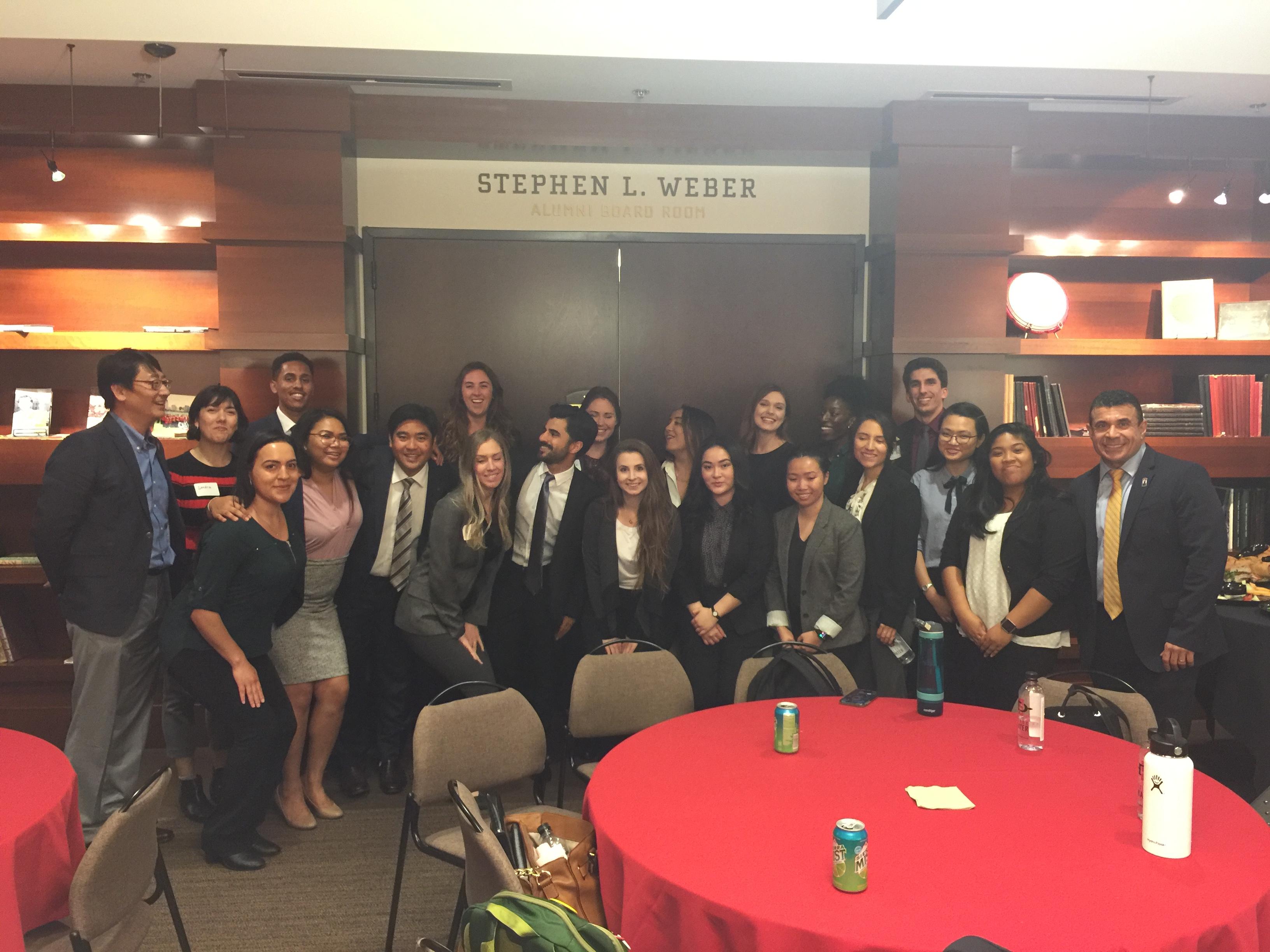 students at a banquet