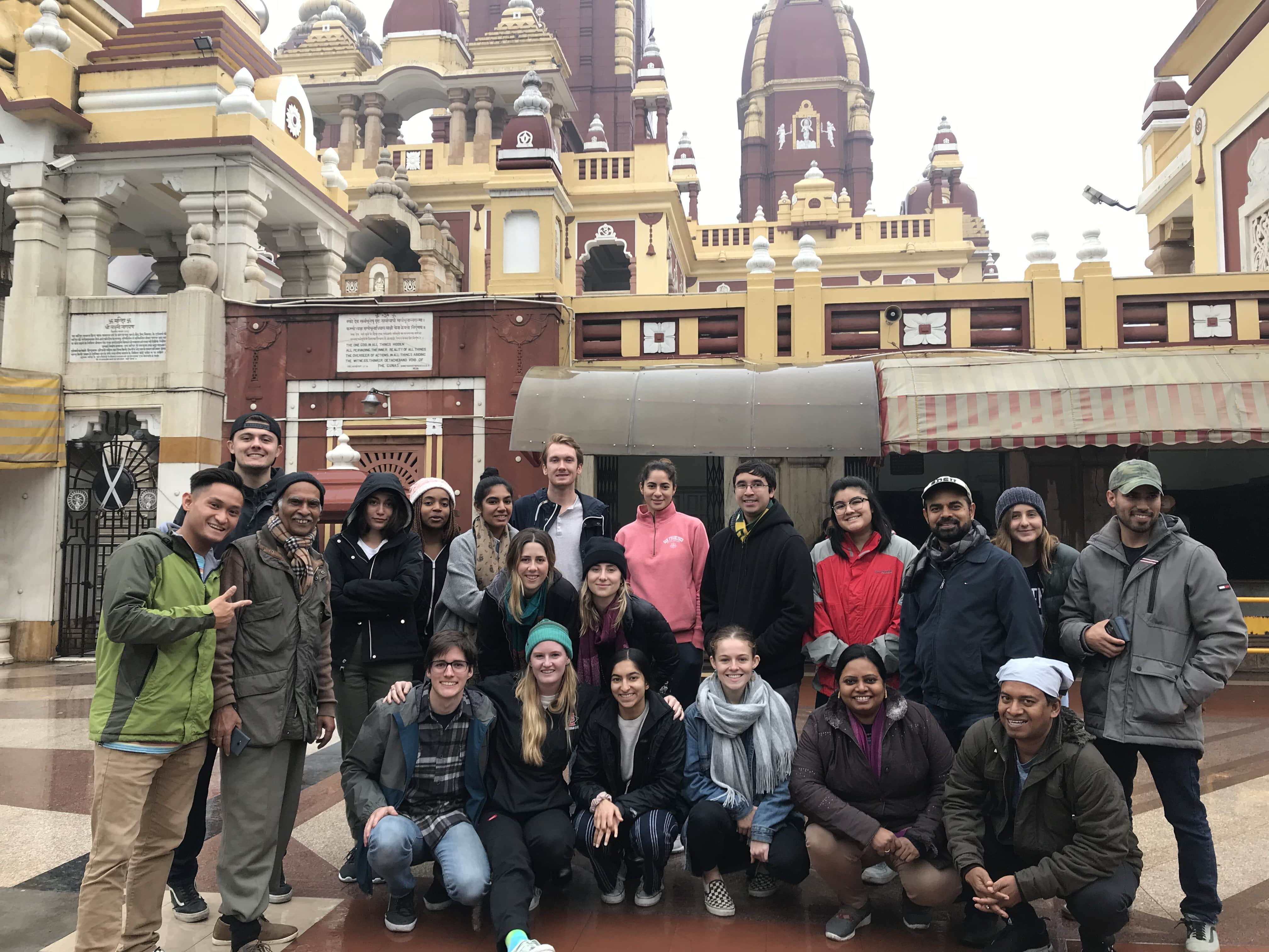 Environmental Health Students posing together in India on a study abroad trip