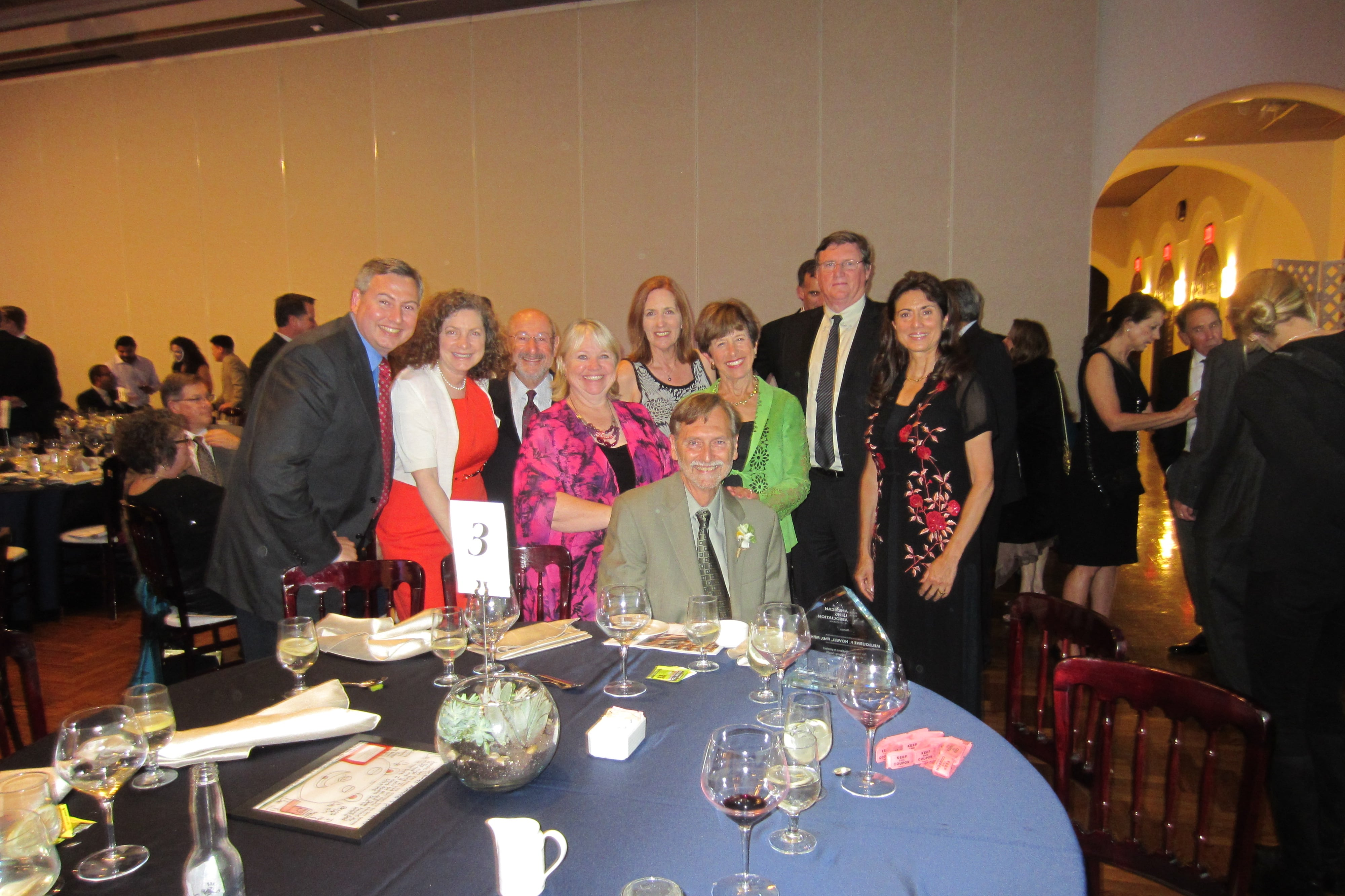 Faculty at a Banquet