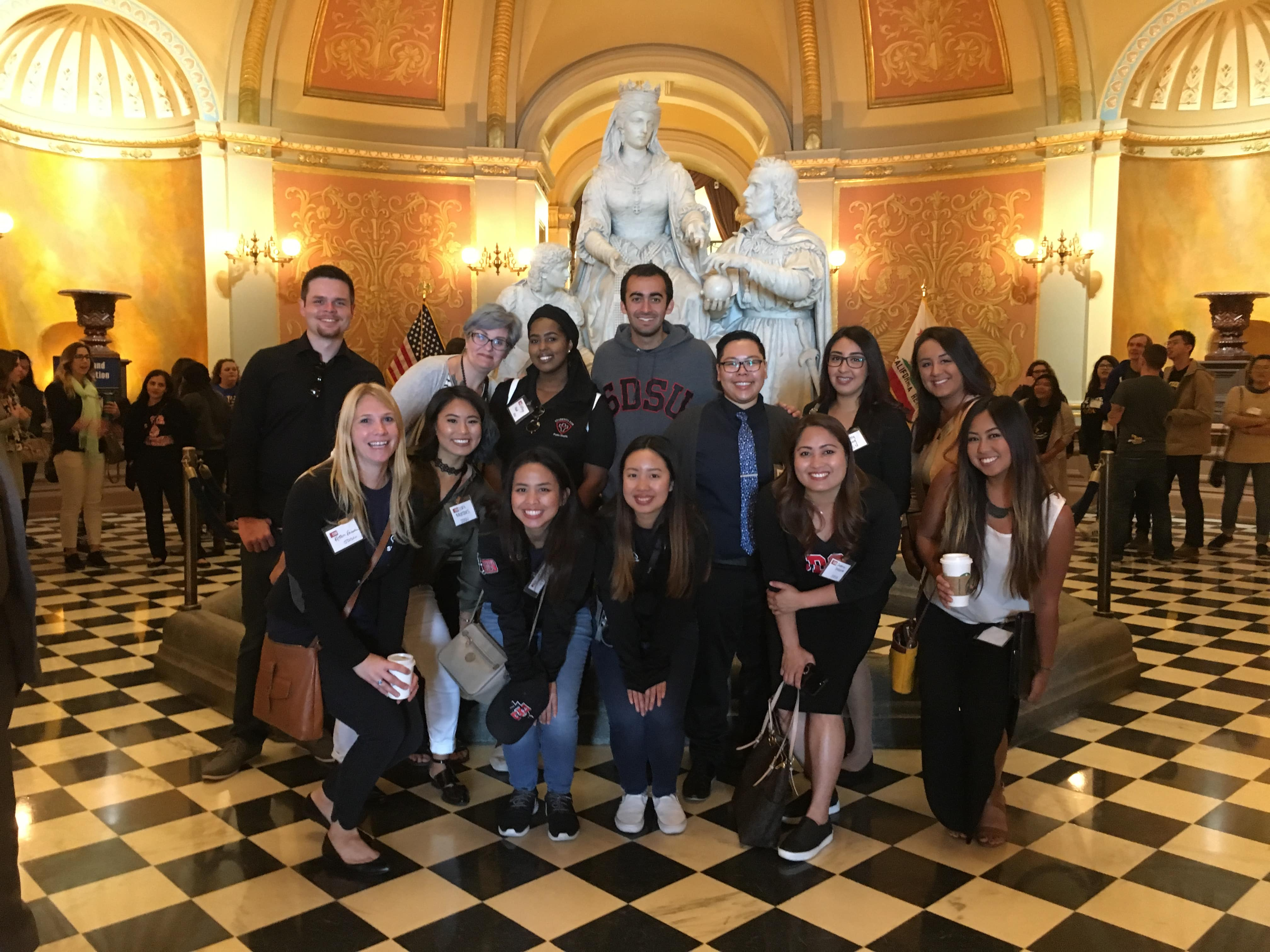 Public Health Undergraduate students in front of the