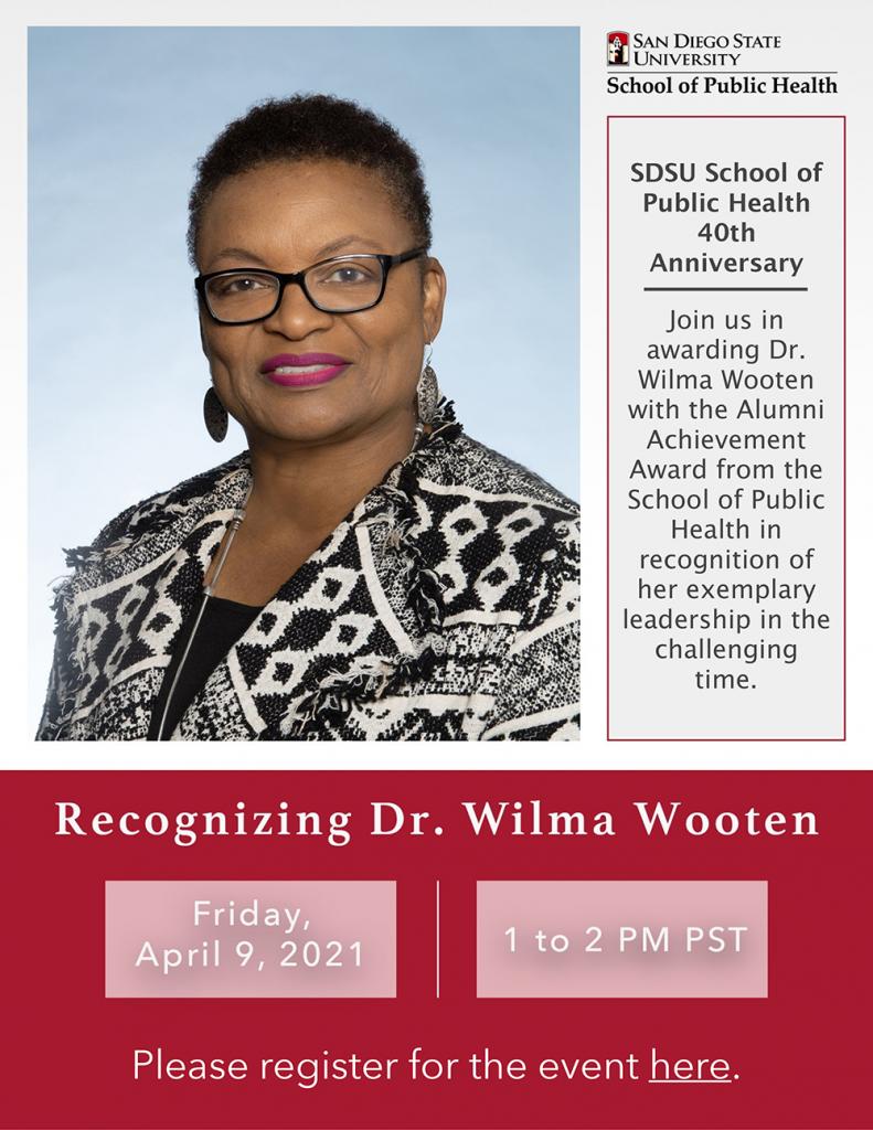 Wilma Wooten Award Flyer