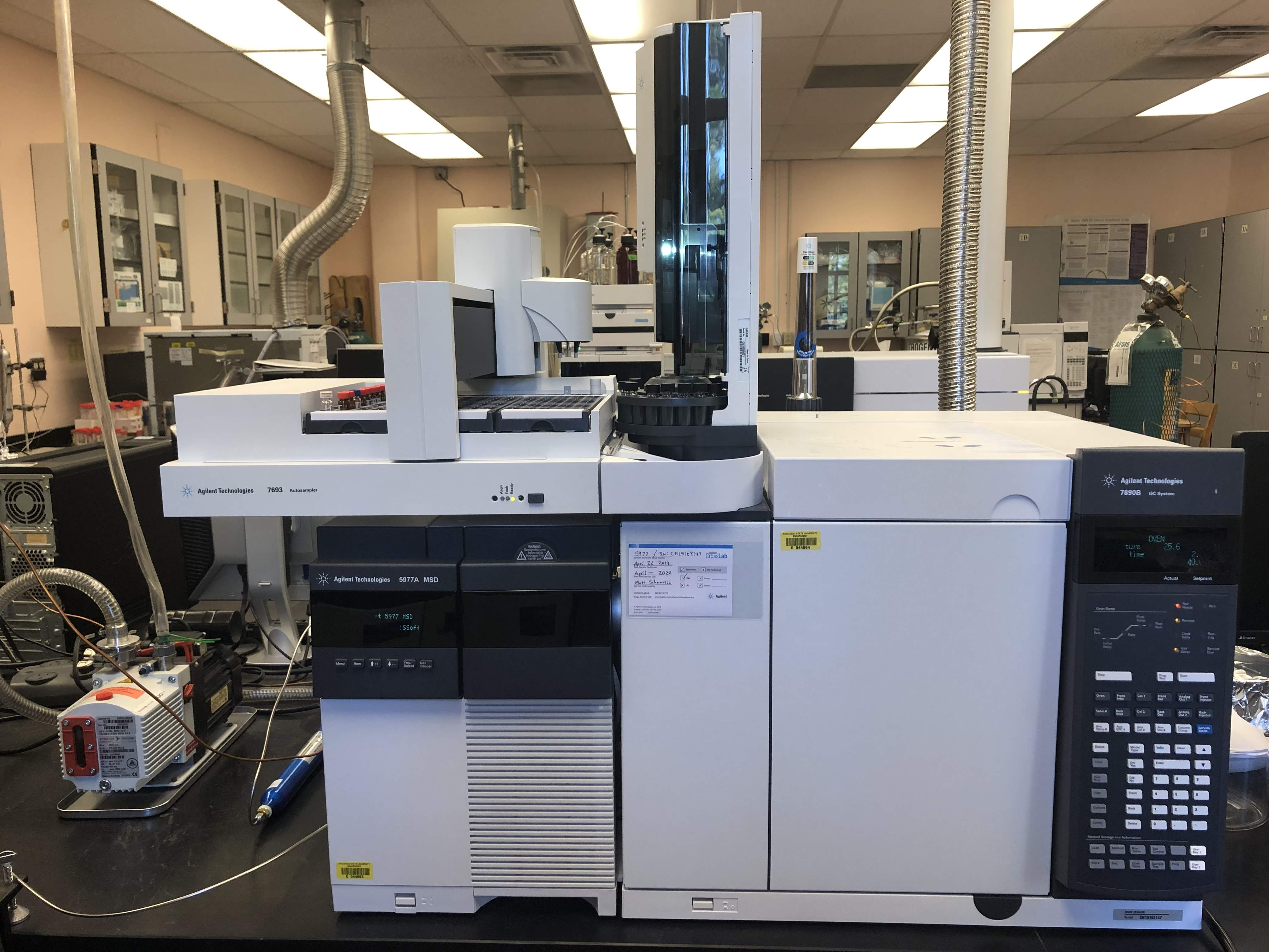Agilent 7890B Gas chromatograph with 5977A Mass Spectrometer (GC/MSD)