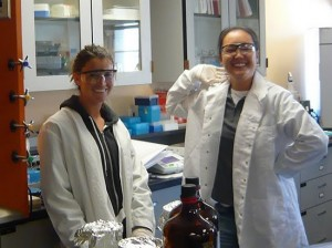 student researchers in the laboratory