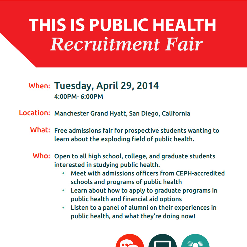"April 29, 2014 – ""This Is Public Health"" Recruitment Fair!"