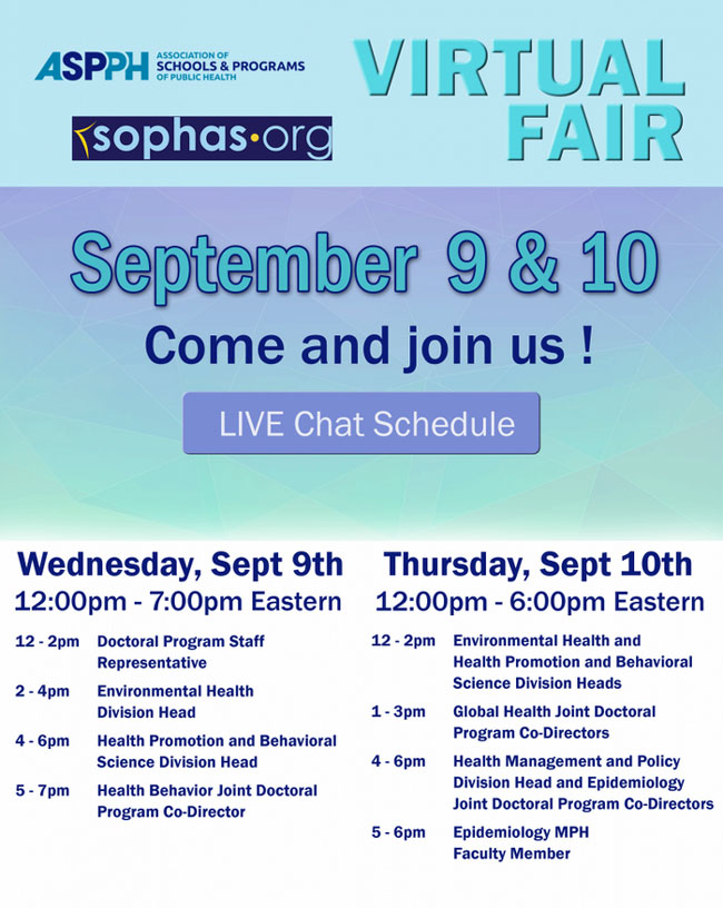virtual fair schedule