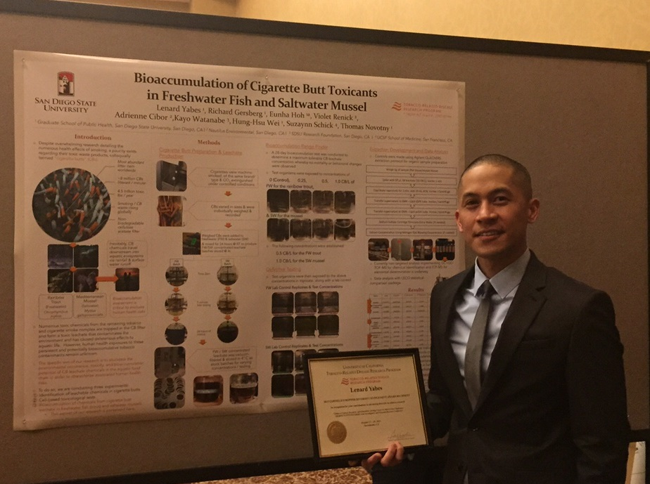 Congratulations, Lenard Yabes, Recipent of the Cornelius Hopper Diversity Award Supplement!