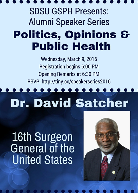 Join us Wednesday, Mar. 9, 2016 for the 3rd Lecture in our GSPH Alumni Speaker Series!