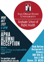 Oct. 31, 2016 – APHA Alumni Reception!