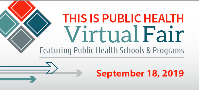 This is Public Health Virtual Fair September 18, 2019
