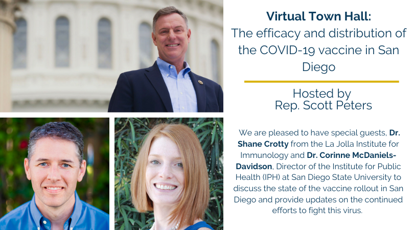 Virtual Town Hall: The efficacy and Distribution of the COVID-19 vaccine in San Diego
