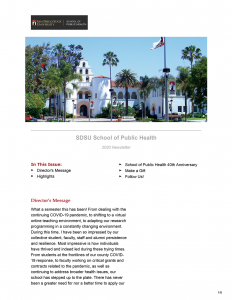 Preview of SPH Fall Newsletter